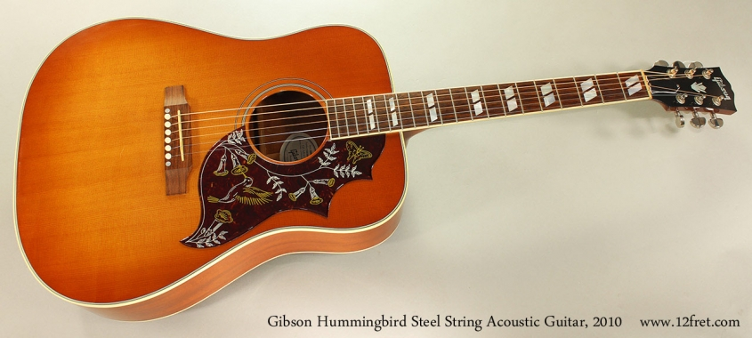 Gibson Hummingbird Steel String Acoustic Guitar, 2010 Full Front View