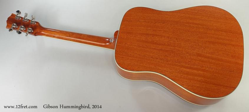 Gibson Hummingbird, 2014 Full Rear View