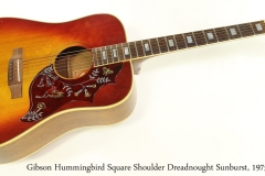 Gibson Hummingbird Square Shoulder Dreadnought Sunburst, 1975 Full Front View