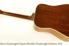 Gibson Hummingbird Square Shoulder Dreadnought Sunburst, 1975 Full Rear View