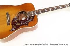 Gibson Hummingbird Faded Cherry Sunburst, 2007 Full Front View