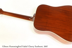 Gibson Hummingbird Faded Cherry Sunburst, 2007 Full Rear View