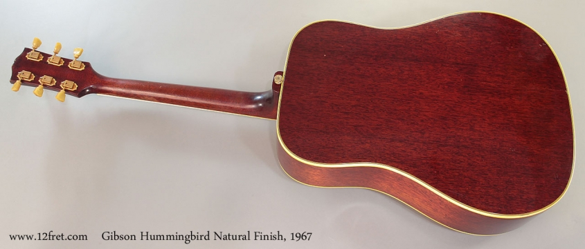 Gibson Hummingbird Natural Finish, 1967 Full Rear View