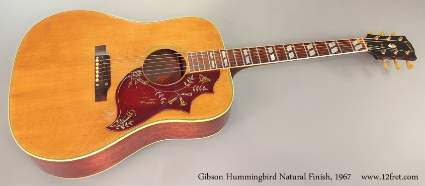 Gibson Hummingbird Natural Finish, 1967 Full Front View