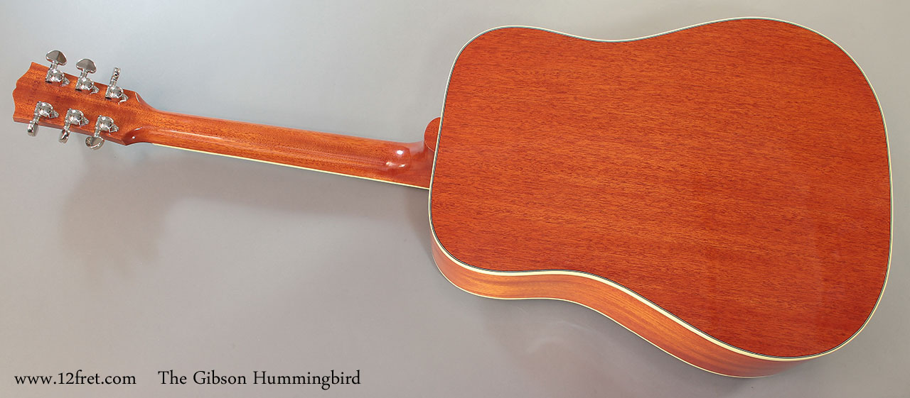 The Gibson Hummingbird Full Rear View