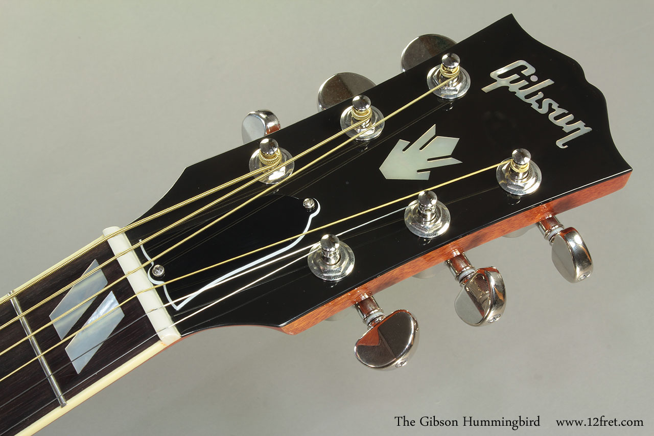 The Gibson Hummingbird Head Front