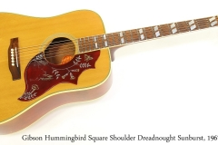 Gibson Hummingbird Square Shoulder Dreadnought Sunburst, 1967 Full Front View