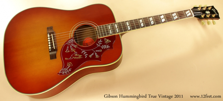 Gibson Hummingbird True Vintage 2011 full front view