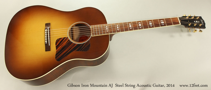 Gibson Iron Mountain AJ Steel String Acoustic Guitar, 2014 Full Front VIew