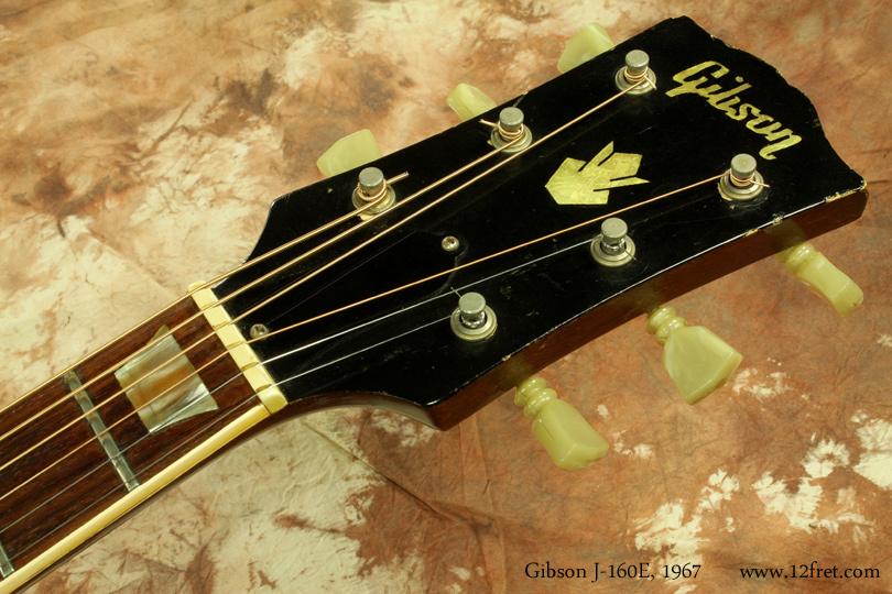 Gibson J-160E 1967 head front