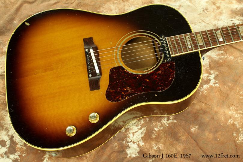Gibson J-160E 1967 top