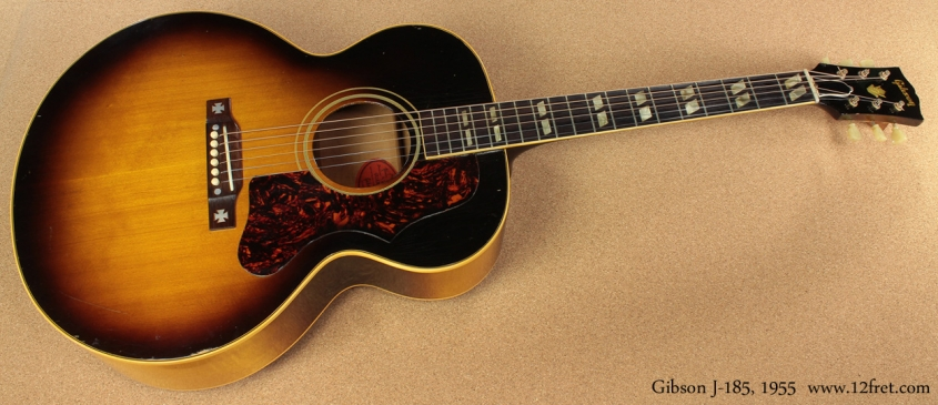Gibson J-185 Sunburst 1955 full front view