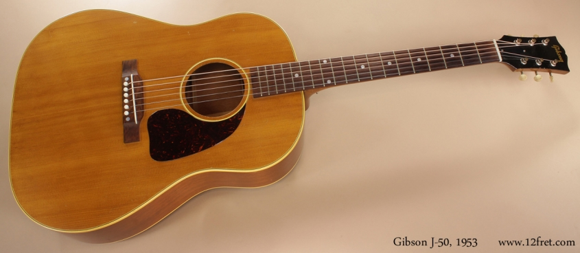 Gibson J-50 1953 full rear view