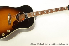 Gibson 1964 J160E Steel String Guitar Sunburst, 2001  Full Front View