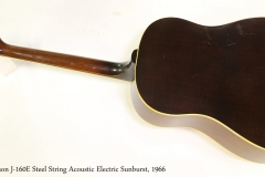 Gibson J-160E Steel String Acoustic Electric Sunburst, 1966   Full Rear View