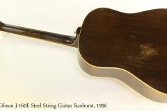 Gibson J-160E Steel String Guitar Sunburst, 1956 Full Rear View