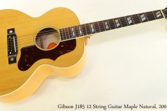 Gibson J185 12 String Guitar Maple Natural, 2001 Full Front View