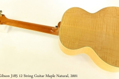 Gibson J185 12 String Guitar Maple Natural, 2001 Full Rear View
