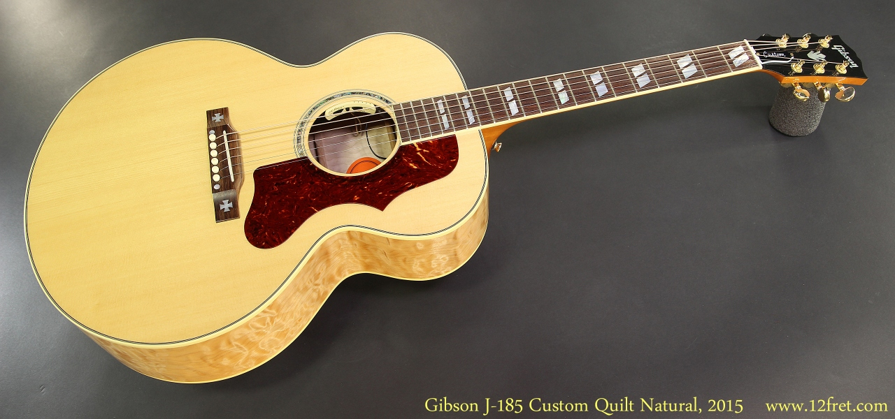 Gibson J-185 Custom Quilt Natural, 2015 Full Front View