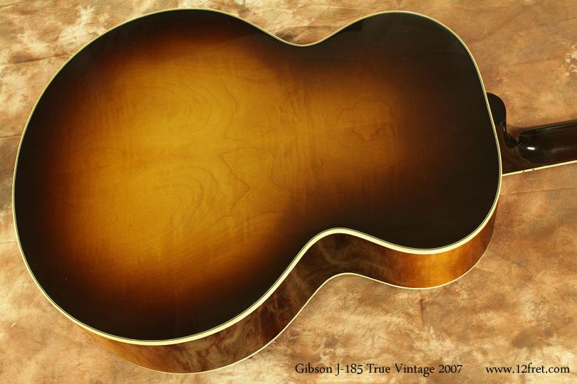 Gibson J-185 True Vintage 2007 back