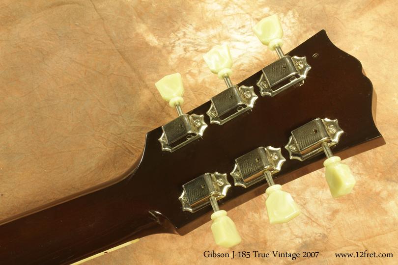 Gibson J-185 True Vintage 2007 head rear