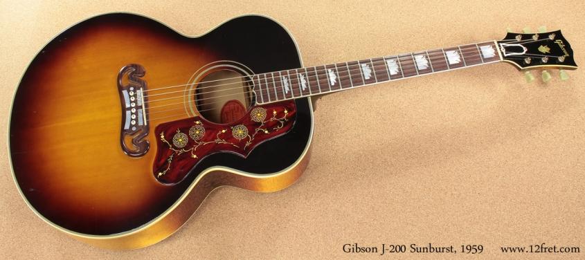 Gibson J-200 Sunburst 1959 full front view