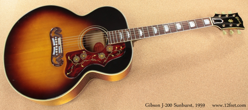 Gibson J-200 Sunburst 1959 full front view