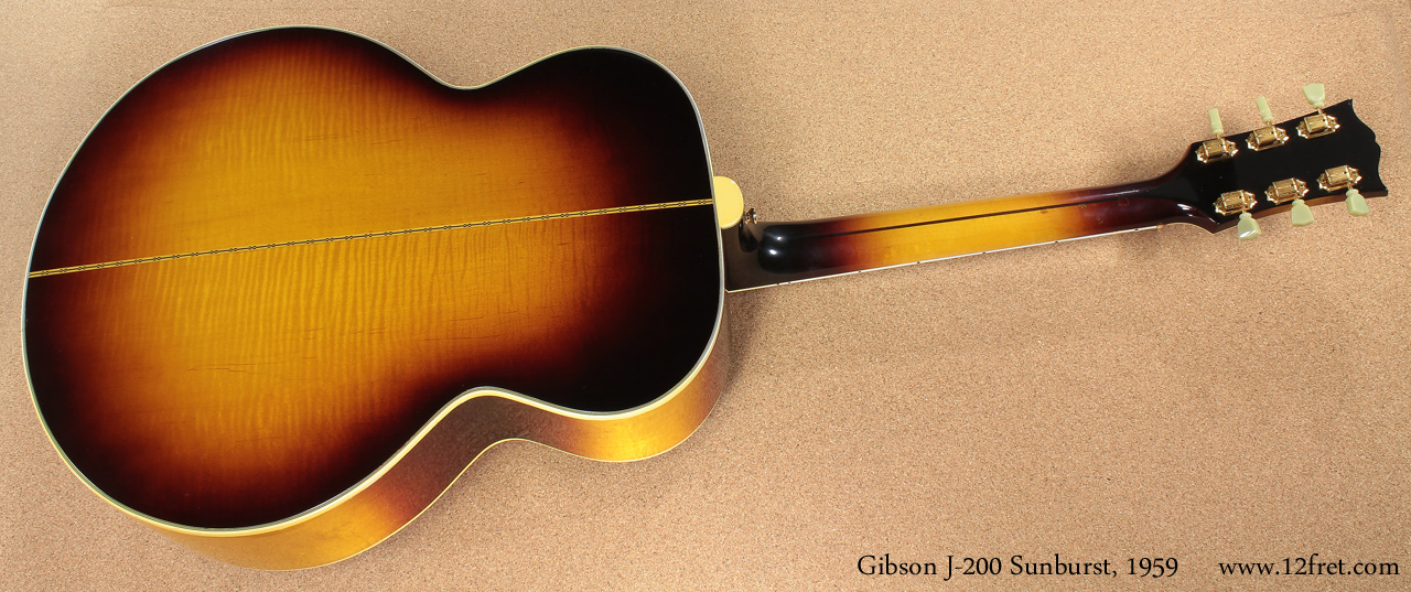 Gibson J-200 Sunburst 1959 full rear view