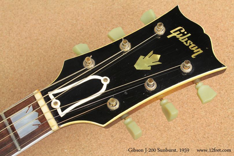 Gibson J-200 Sunburst 1959 head front