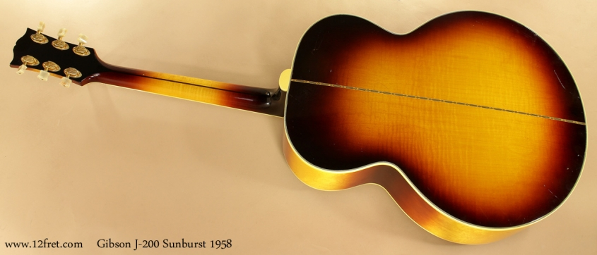 Gibson J-200 Sunburst 1958 full rear view