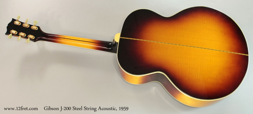 Gibson J-200 Steel String Acoustic, 1959 Full Rear View