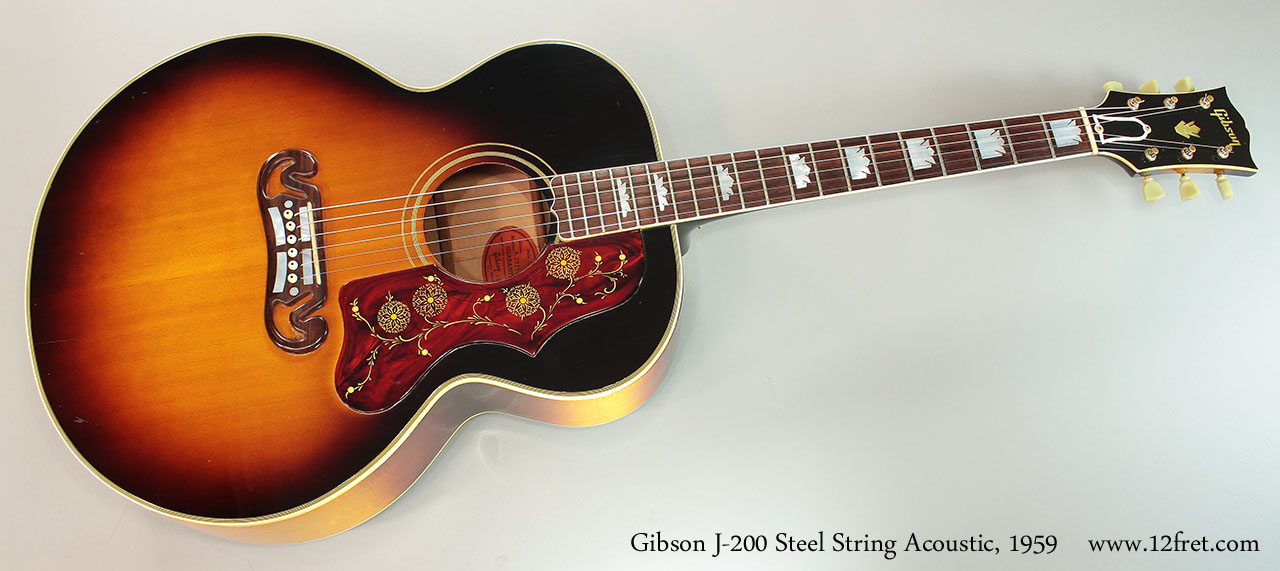 Gibson J-200 Steel String Acoustic, 1959 Full Front View