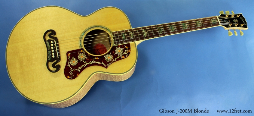 Gibson J-200M Blonde full front view