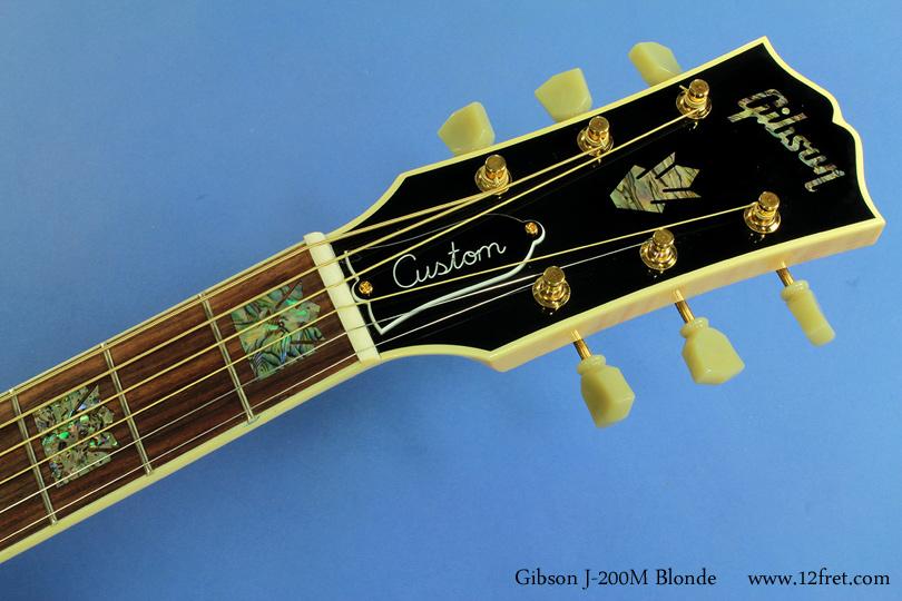 Gibson J-200M Blonde head front