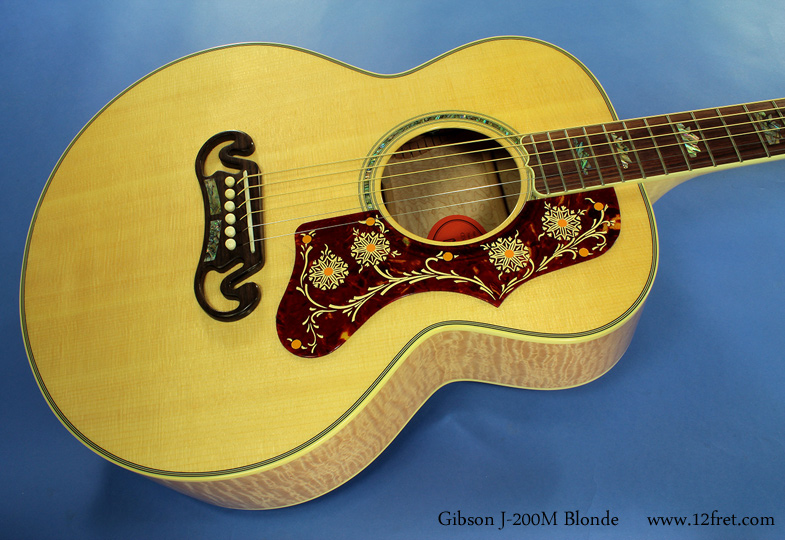 Gibson J-200M Blonde top