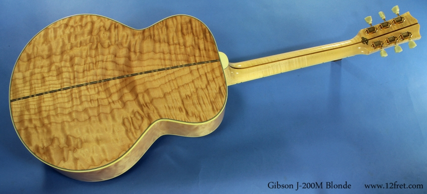 Gibson J-200M Blonde full rear view