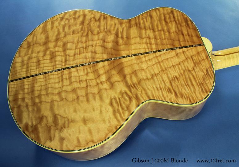 Gibson J-200M Blonde back
