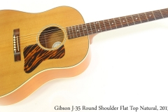 Gibson J-35 Round Shoulder Flat Top Natural, 2013 Full Front View