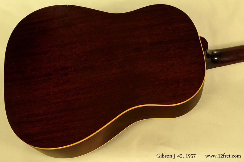 Gibson J-45, 1957  back