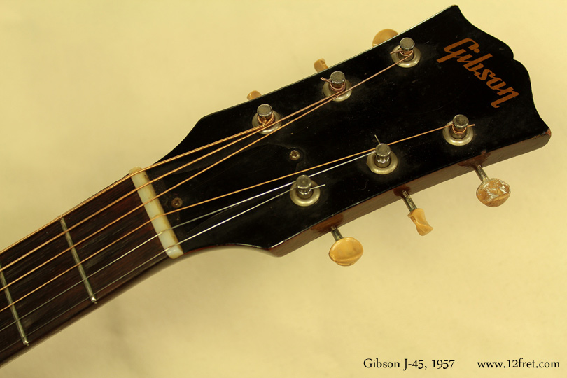 Gibson J-45, 1957  head front view
