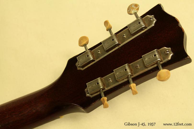 Gibson J-45, 1957  head rear view