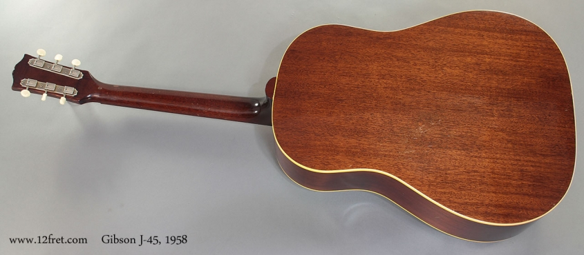 Gibson J-45 1958 full rear view