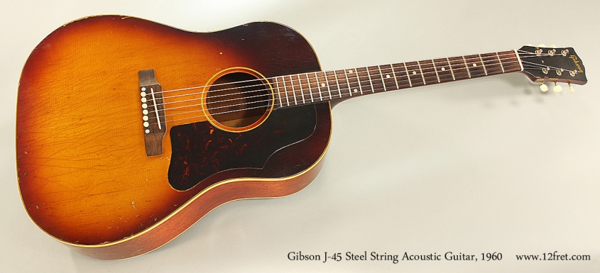 Gibson J-45 Steel String Acoustic Guitar, 1960 Full Front View