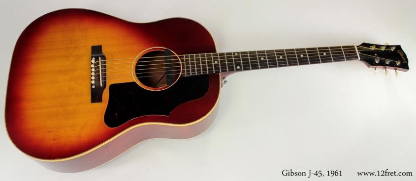 Gibson J-45 Cherryburst 1961 full front view