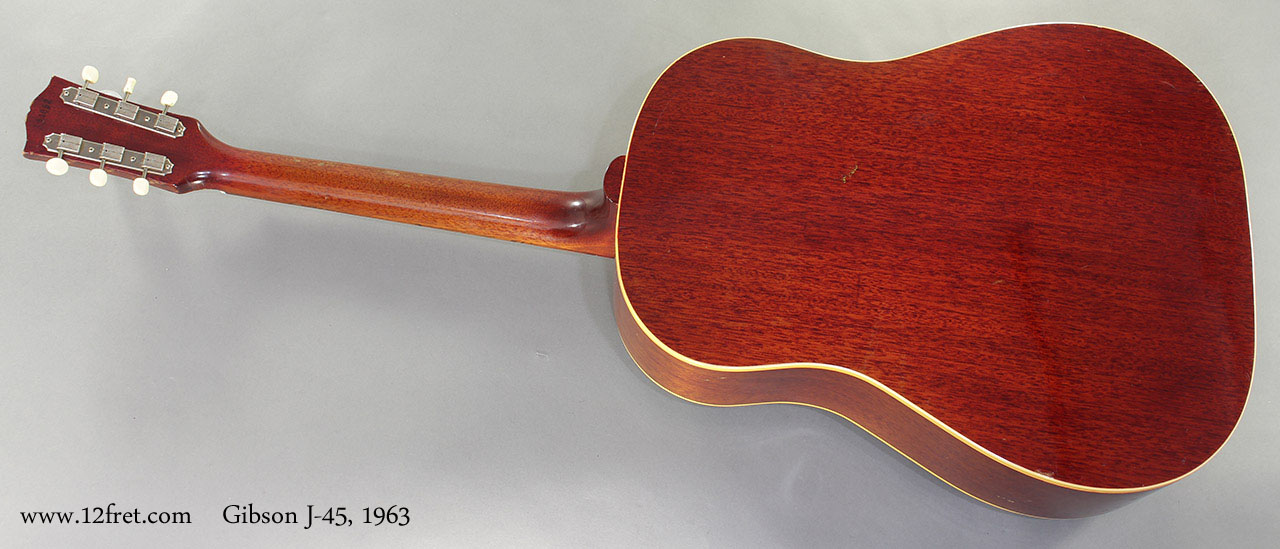 Gibson J-45 1963 full rear view