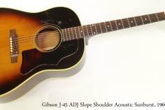 Gibson J-45 ADJ Slope Shoulder Acoustic Sunburst, 1966 Full Front View