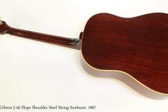 Gibson J-45 Slope Shoulder Steel String Sunburst, 1967   Full Rear View