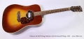 Gibson J-45 Steel String Sunburst with deArmond Pickup, 1970 Full Front View