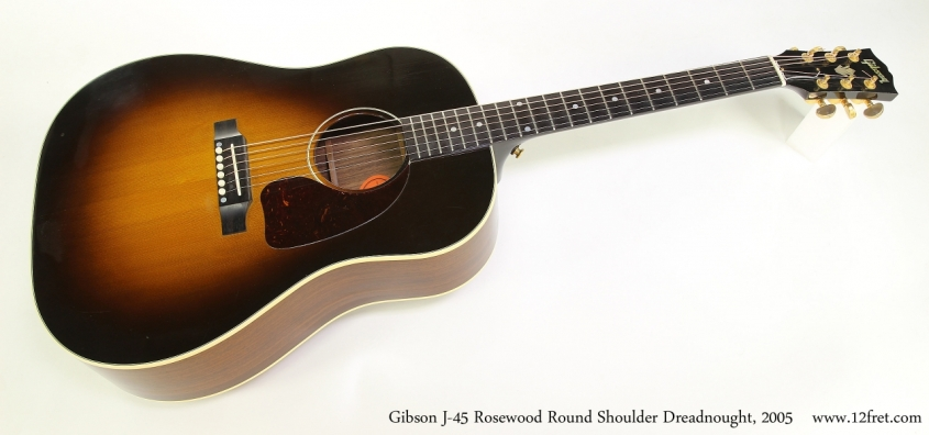 Gibson J-45 Rosewood Round Shoulder Dreadnought, 2005 Full Front View