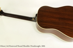 Gibson J-45 Rosewood Round Shoulder Dreadnought, 2005 Full Rear View